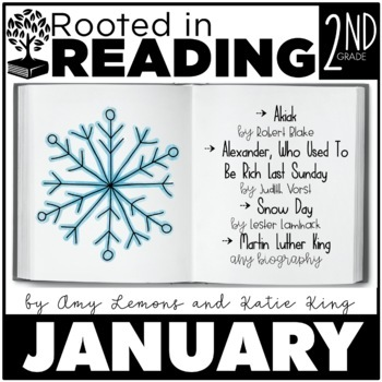 Rooted in Reading 2nd Grade January:  Read Aloud Lessons and Activities