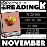 Rooted in Reading Kindergarten November: Read Aloud Lessons and Activities