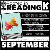 Rooted in Reading Kindergarten September: Read Aloud Lessons and Activities