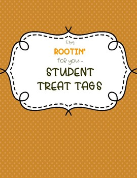 Rootin' For You Testing Treat Tags