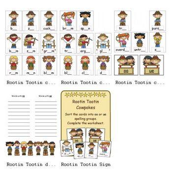 Rootin Tootin Cowpokes (Sorting -oo and -ue)  $4.00