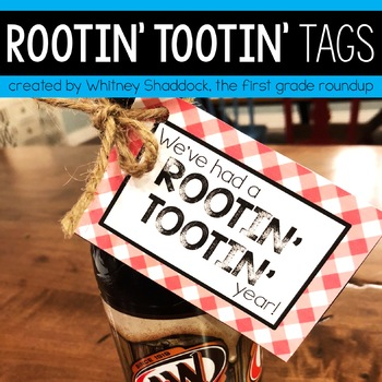 Rootin' Tootin' Year and Birthday Gift Tags