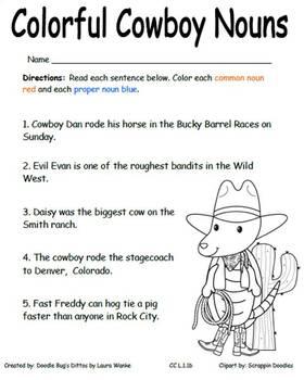 Rootin' Tootin' Noun Rodeo CC L.1.1b