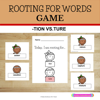 Rooting for Words: -Tion vs. -Ture Game: Gingerbread