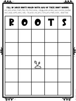 Roots Bingo