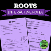 Square Roots and Cube Roots Guided Notes