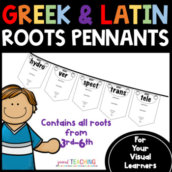 Greek and Latin Roots: Fun Pennants/Use in Interactive Ntbks Grades 3-5 RF.4.3