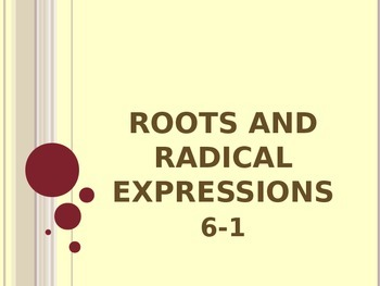 Roots & Radical Expressions
