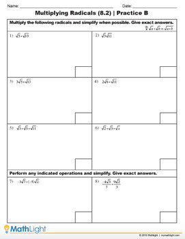 Roots & Radicals | Pre Algebra Unit with Videos | Good for Distance Learning