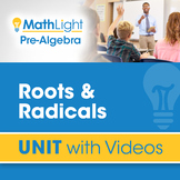 Roots & Radicals   Pre Algebra Unit with Videos   Good for