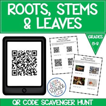 Roots, Stems, Leaves! QR Code Scavenger Hunt!