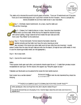 Roots Unit and Lesson Plans (Word version)