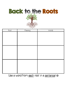 Roots and Affixes: Back to Roots