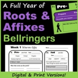 Roots and Affixes Bellringers for Middle School