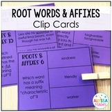 Roots and Affixes Task Cards   Clip Cards