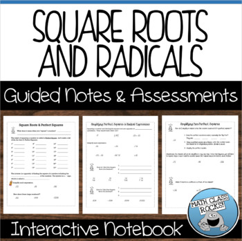 Roots and Radicals Guided Notes and Assessments