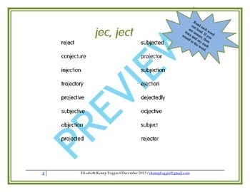 """Roots: """"jec, ject"""""""
