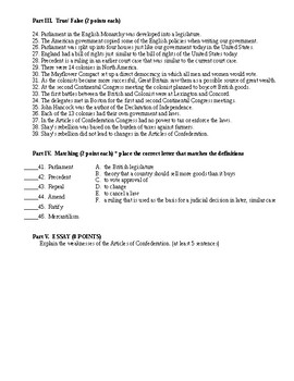 Roots of American Democracy Test