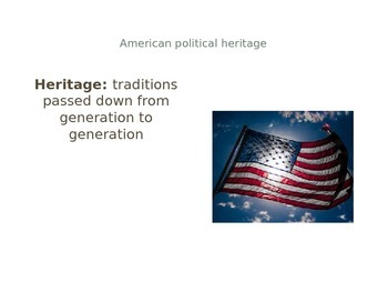 Roots of American Government - PPT & Handout