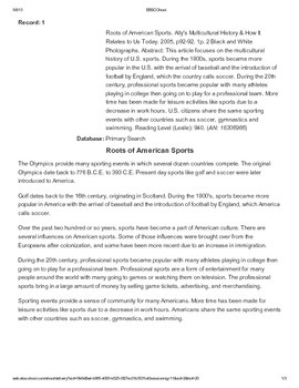 Jackie Robinson: Roots of American Sports Article