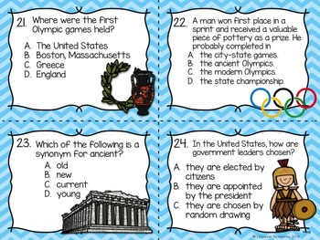 Roots of Democracy Game, Reading Passage with Question, and Posters