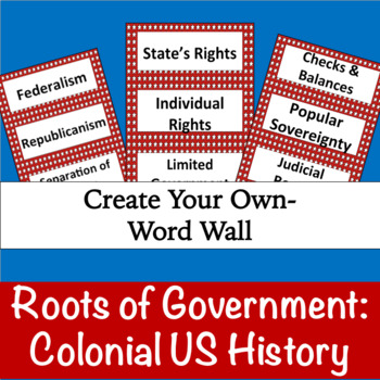 Roots of Government: Colonial US History (Manipulatives)