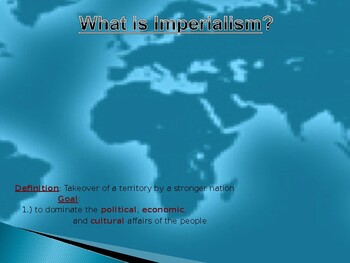 Roots of Imperialism in Africa PowerPoint