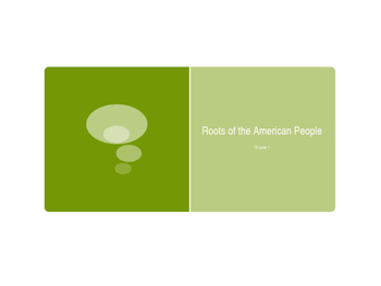 Roots of the American People PowerPoint