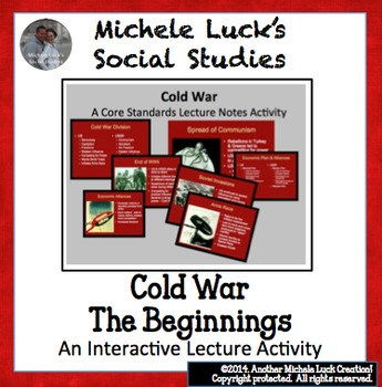 Roots of the Cold War Powerpoint w/ Core Content Notes and Pictures