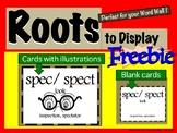 Roots to Display FREEBIE