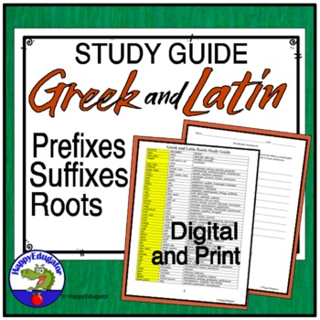 Greek and Latin Roots Study Guide