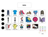 Speech Therapy Spanish Ropa/Clothing Learning Experienc - Pre-K Vocabulary Sheet