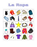 Ropa (Clothing in Spanish) Bingo