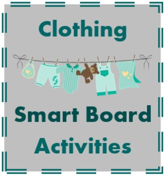 Ropa (Clothing in Spanish) notebook activities for Smartboard