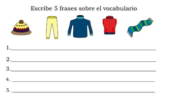 Ropa Para Invierno for Beginning Spanish