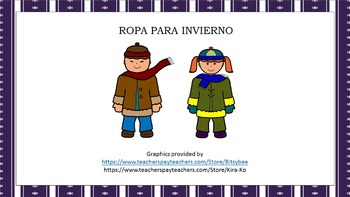 Ropa Para Invierno for Beginning Spanish