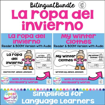 Ropa del invierno ~ Winter Clothes Readers & Paperless BOOM Versions {Bilingual}