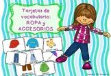Ropa y Accesorios - Tarjetas de Vocabulario