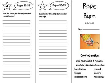 Rope Burn Trifold - Storytown 5th Grade Unit 1 Week 1