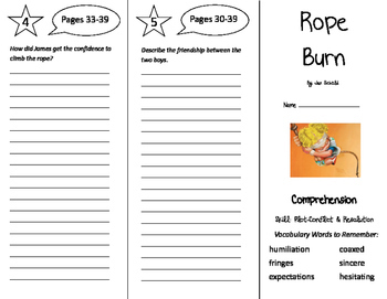 Rope Burn Trifold - Storytown 5th Grade Unit 1 Week 1