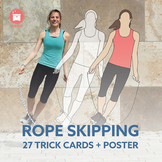 ROPE SKIPPING: 27 Jump Rope Trick Cards + Poster for your