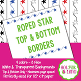Roped Stars Top & Bottom Borders by Hot Pink Lime