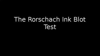 Rorschach Inkblot Test PowerPoint