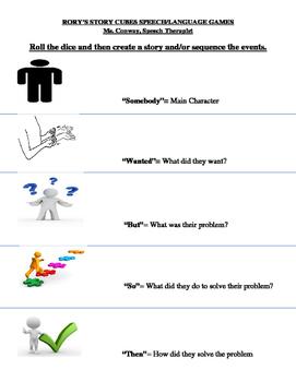 """Rory's Story Cubes"" Speech/Language Activities"