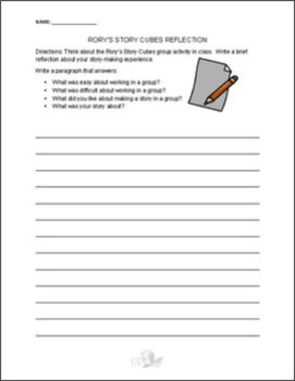 Rory's Story Cubes Reflection Worksheet