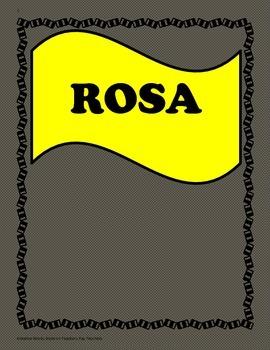 Rosa - 5th Grade - Tri folds + Activities ( Bundled)