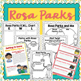 Rosa Parks Activity Pack Grades 3-6 | Printable Worksheets | Black History Month