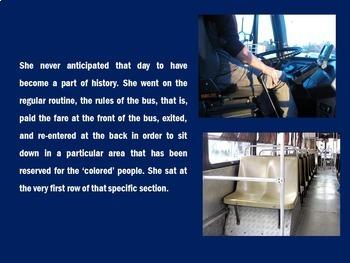 Rosa Parks PowerPoint   Rosa Parks Activity   Rosa Parks Biography