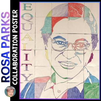 Rosa Parks Collaboration Portrait Poster - Great Women's History Month Activity