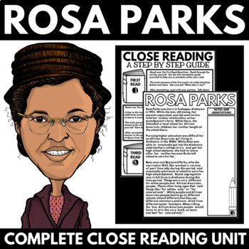 Rosa Parks - Black History Month Unit Information and Research Project